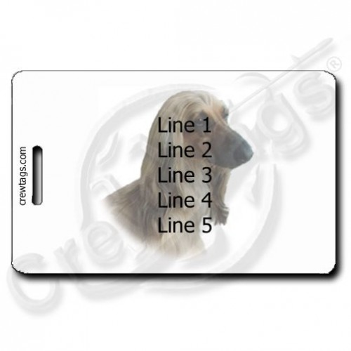 AFGHAN HOUND LUGGAGE TAGS WITH PERSONALIZED TEXT