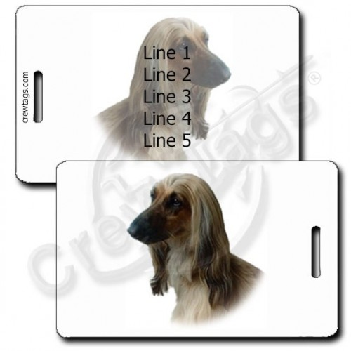 AFGHAN HOUND PERSONALIZED LUGGAGE TAGS