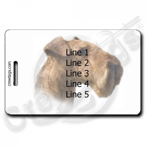 AIREDALE TERRIER LUGGAGE TAGS WITH PERSONALIZED TEXT