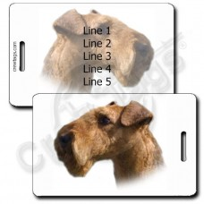 AIREDALE TERRIER PERSONALIZED LUGGAGE TAGS
