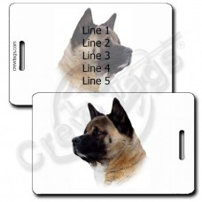 AKITA PERSONALIZED LUGGAGE TAGS
