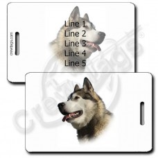 ALASKAN MALAMUTE PERSONALIZED LUGGAGE TAGS