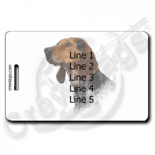 AMERICAN ENGLISH PERSONALIZED COONHOUND PERSONALIZED LUGGAGE TAGS