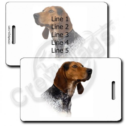 AMERICAN ENGLISH COONHOUND PERSONALIZED LUGGAGE TAGS