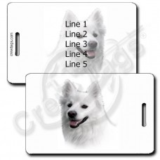 AMERICAN ESKIMO DOG PERSONALIZED LUGGAGE TAGS
