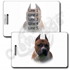 AMERICAN STAFFORDSHIRE TERRIER PERSONALIZED LUGGAGE TAGS