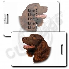 AMERICAN WATER SPANIEL PERSONALIZED LUGGAGE TAGS
