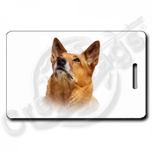 PERSONALIZED AUSTRALIAN CATTLE DOG LUGGAGE TAG - RED