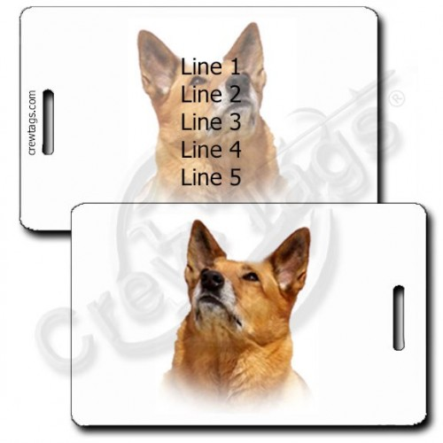 AUSTRALIAN CATTLE DOG PERSONALIZED LUGGAGE TAG - RED