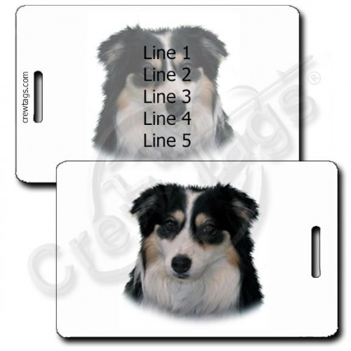 AUSTRALIAN SHEPHERD PERSONALIZED LUGGAGE TAGS