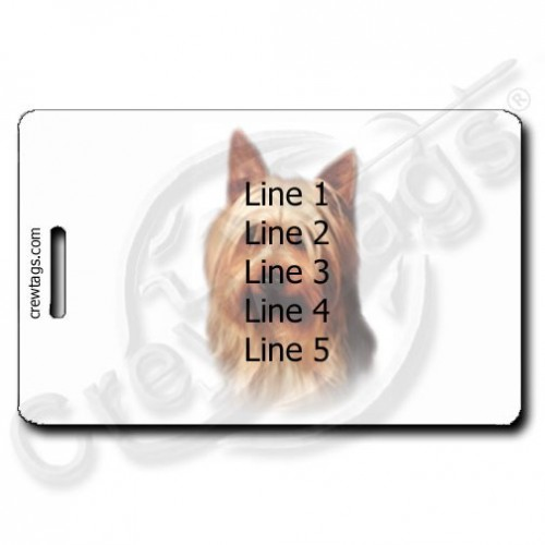 PERSONALIZED AUSTRALIAN SILKY TERRIER LUGGAGE TAG
