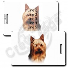 AUSTRALIAN SILKY TERRIER LUGGAGE TAG