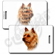 PERSONALIZED AUSTRALIAN TERRIER LUGGAGE TAG