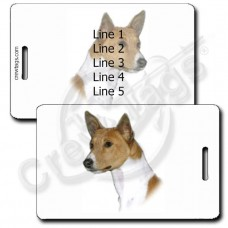 PERSONALIZED BASENJI LUGGAGE TAG