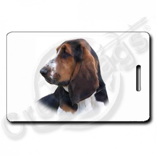BASSET HOUND PERSONALIZED LUGGAGE TAG