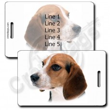 PERSONALIZED BEAGLE LUGGAGE TAGS