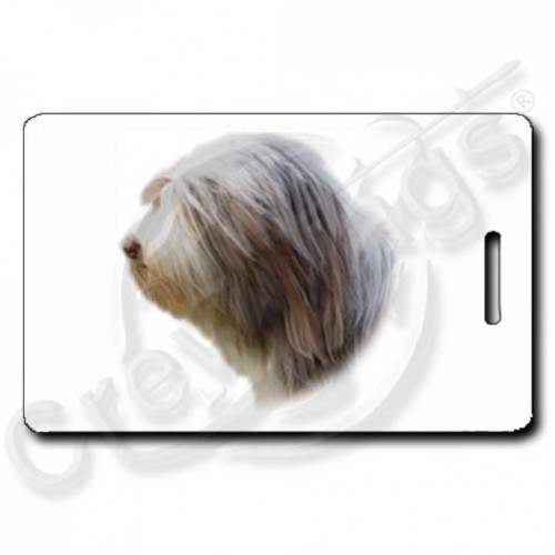 BEARDED COLLIE PERSONALIZED LUGGAGE TAG