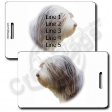 PERSONALIZED BEARDED COLLIE LUGGAGE TAG