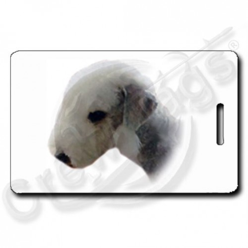 BEDLINGTON TERRIER PERSONALIZED LUGGAGE TAG