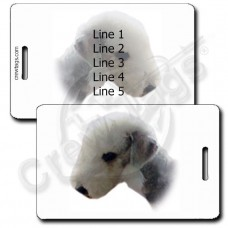 PERSONALIZED BEDLINGTON TERRIER LUGGAGE TAG