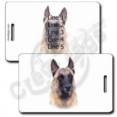 PERSONALIZED BELGIAN MALINOIS LUGGAGE TAGS