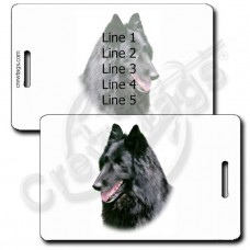 PERSONALIZED BELGIAN SHEEPDOG LUGGAGE TAGS