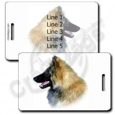 PERSONALIZED BELGIAN TERVUREN LUGGAGE TAGS