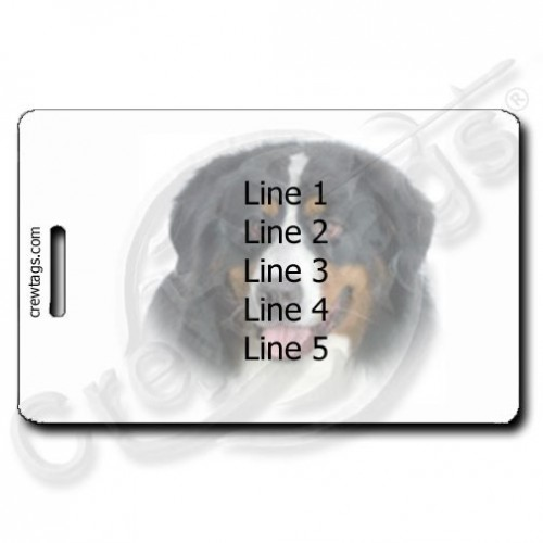PERSONALIZED BERNESE MOUNTAIN DOG LUGGAGE TAGS