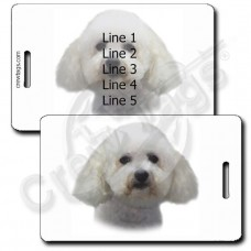PERSONALIZED BICHON FRISE LUGGAGE TAGS
