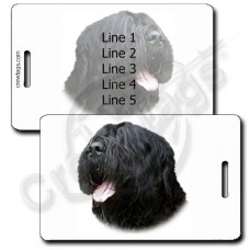 BLACK RUSSIAN TERRIER LUGGAGE TAGS