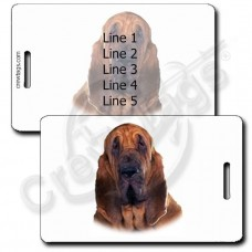 PERSONALIZED BLOODHOUND LUGGAGE TAGS