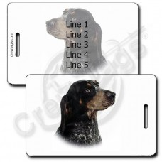 PERSONALIZED BLUETICK COONHOUND LUGGAGE TAGS