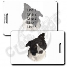 BORDER COLLIE LUGGAGE TAGS