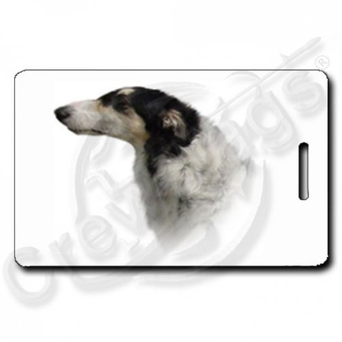 BORZOI PERSONALIZED LUGGAGE TAGS