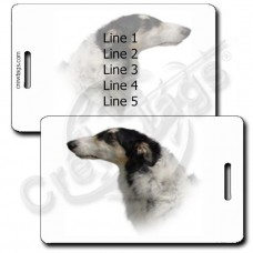 PERSONALIZED BORZOI LUGGAGE TAGS