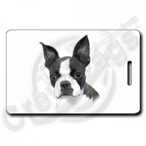 BOSTON TERRIER PERSONALIZED LUGGAGE TAGS