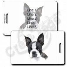 BOSTON TERRIER LUGGAGE TAGS