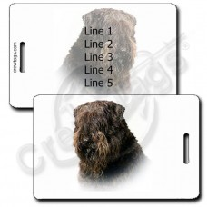PERSONALIZED BOUVIER DES FLANDERS LUGGAGE TAGS