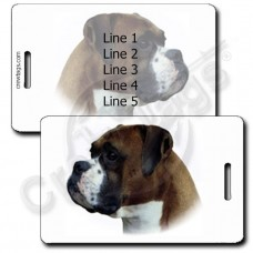 PERSONALIZED BOXER LUGGAGE TAGS
