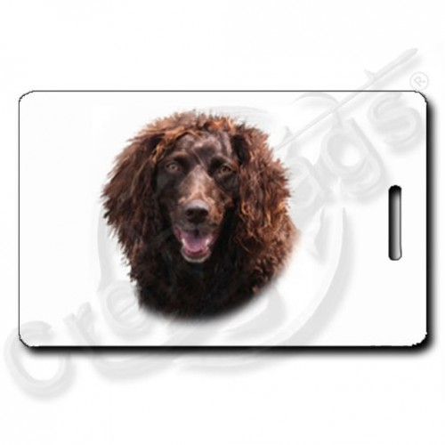 BOYKIN SPANIEL LUGGAGE TAGS WITH PAW PRINT BACK