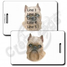 PERSONALIZED BRUSSELS GRIFFON LUGGAGE TAGS