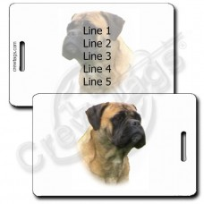 PERSONALIZED BULL MASTIFF LUGGAGE TAGS