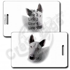 PERSONALIZED BULL TERRIER LUGGAGE TAGS