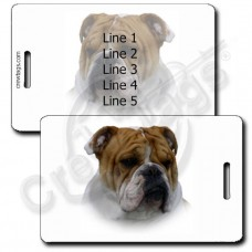 PERSONALIZED BULLDOG LUGGAGE TAGS