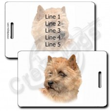 PERSONALIZED CAIRN TERRIER LUGGAGE TAGS