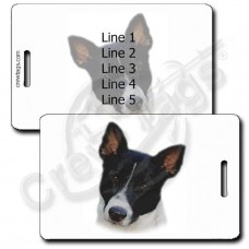 PERSONALIZED CANAAN DOG LUGGAGE TAGS - BLACK & WHITE
