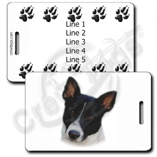 PERSONALIZED CANAAN DOG LUGGAGE TAGS WITH PAW PRINT BACK