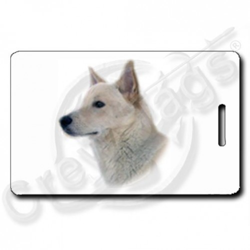 CANAAN DOG (WHITE) LUGGAGE TAG
