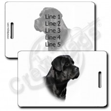 PERSONALIZED CANE CORSO LUGGAGE TAGS