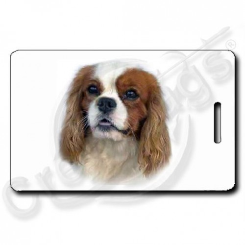 CAVALIER KING CHARLES SPANIEL PERSONALIZED  LUGGAGE TAGS